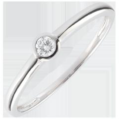 Anillo solitario Mi diamante - diamante 0.08 quilates - 9 quilates
