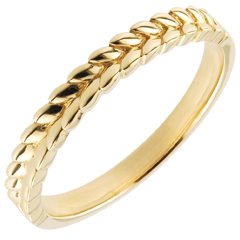 Anello Giardino Incantato - Treccia - Oro giallo - 9 carati