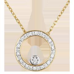 Collier Eleganter Kreis Gelbgold
