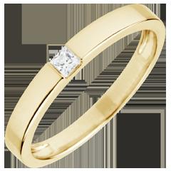 Anello Solitario Disegno Tecnico - diamante taglio Principessa