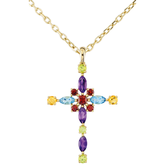 Anhänger Kreuz - Multicolor