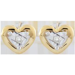 Yellow Gold Small Heart Earrings