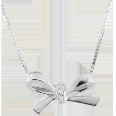 Collar Nudo Carlota - oro blanco 9 quilates