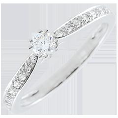 Anello solitario Garlane 8 diamanti - 0.15 carati
