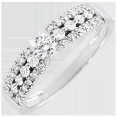 Anello di fidanzamento Destino - Medici - Oro Bianco - 0.10 carati - 18 carati