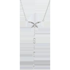 Collar Brisa Ligera - oro blanco 9 quilates