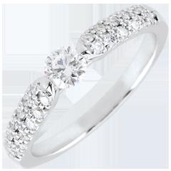 Bague solitaire diamant Triomphale - or blanc - 0.25 carat