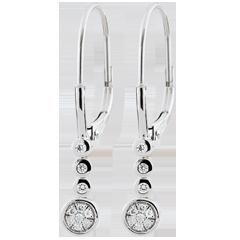 Pendientes Diamantes Irisa - oro blanco 9 quilates