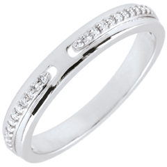 Wedding Ring Promise - white gold and diamonds - small model