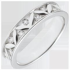 Trauring Frische - Römische Antike - Weißgold, 7 Diamanten - 9 Karat