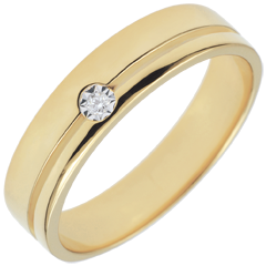 Trauring Olympia Diamant - Mitteleres Modell - Gelbgold