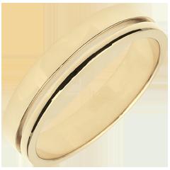 Trouwring Olympia - Gemiddeld model - geelgoud - 18 karaat goud