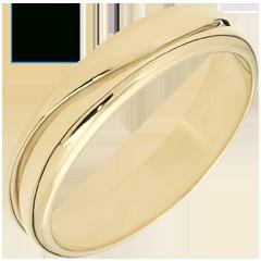 Anillo Amor - Alianza hombre de oro amarillo – 9 quilates