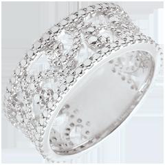 Anello Oro Bianco e Diamante - Varda