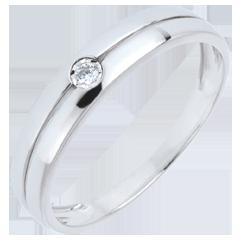 9 karaat witgoud met Diamant Real Eden Ring - 0.022 karaat