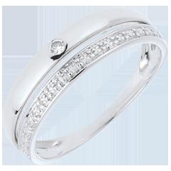 Wedding Ring Pretty  - White gold