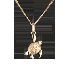 صغير السلحفاة ـ نموذج صغير ـ الذهب الأصفر 9 قيراط