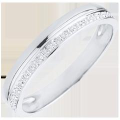 خاتم زواج أناقة الذهب الأبيض 9 قيراط