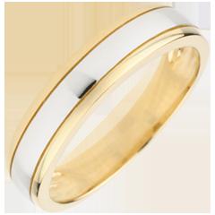 خاتم زواج أوريزون ـ الذهب الأبيض والذهب الأصفر عيار 9 قيراط