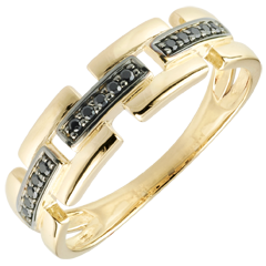 خاتم كياروسكورو ـ طريق سري ـ حجم صغير 9 قيراط