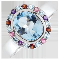 خاتم زهرة عدن ـ الفضة والأحجار الكريمة