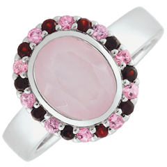 خاتم زهرة عدن - الفضة والأحجار الكريمة