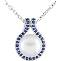 Adélie Pendant with pearls and sapphires