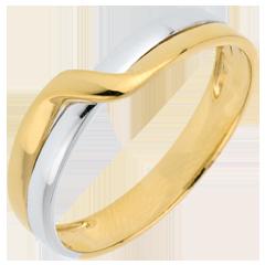 Alianza Edén Pasión - dos oros - oro amarillo y oro blanco 18 quilates