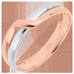 Alianza Edén Pasión - oro rosa y oro blanco 18 quilates