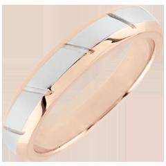Alianza Magnus - oro rosa y oro blanco 18 quilates