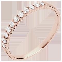 Alianza oro rosa - 11 diamantes