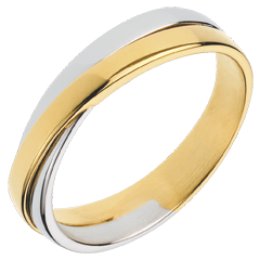 Alianza Saturno Dúo - todo oro - oro amarillo y oro blanco