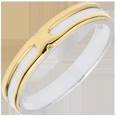 Alianza Soltice - Dos Oros - oro blanco y oro amarillo 9 quilates