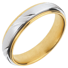 Alianza Viking - oro blanco y oro amarillo 18 quilates