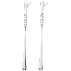 Aliria White Gold and Diamond Drop Earrings