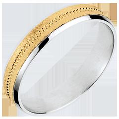 Alliance Archi deux ors - or blanc et or jaune 18 carats