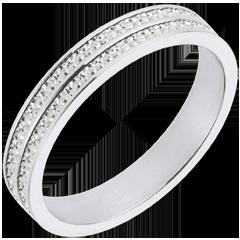 Alliance Chemins de vie - or blanc 18 carats