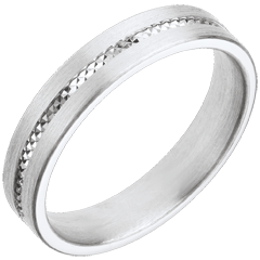 Alliance Empreinte - or blanc 18 carats