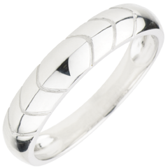 Alliance Energie or blanc 18 carats