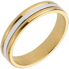 Alliance Esther I - or blanc et or jaune 18 carats