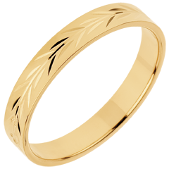Alliance Fraicheur - Rameaux gravés - or jaune - 18 carats