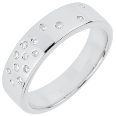 Alliance Nuit Étoilée - or blanc 18 carats