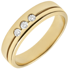 Alliance Olympia Trilogie - Moyen modèle - or jaune 18 carats