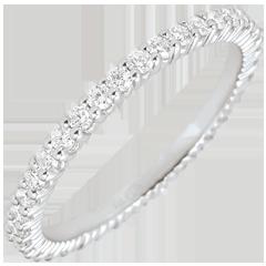 Alliance or blanc 9 carats Radieuse - 38 diamants