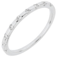Alliance Oriane - or blanc 18 carats