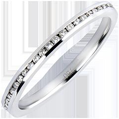 Alliance Origine - Perles de rosée - or blanc 9 carats et diamants