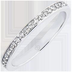 Alliance Origine - Scintillante - or blanc 9 carats et diamants