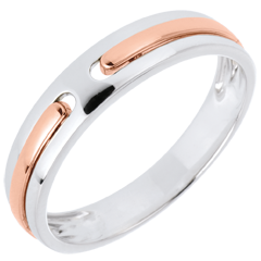 Alliance Promesse - tout or - or blanc et or rose 9 carats