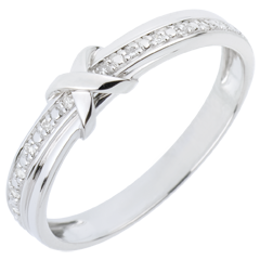 Alliance Signe D'Amour - or blanc 9 carats