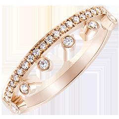 Anello Abbondanza - Maestà - oro rosa 9 carati e diamanti